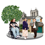 3 disabled people in their community